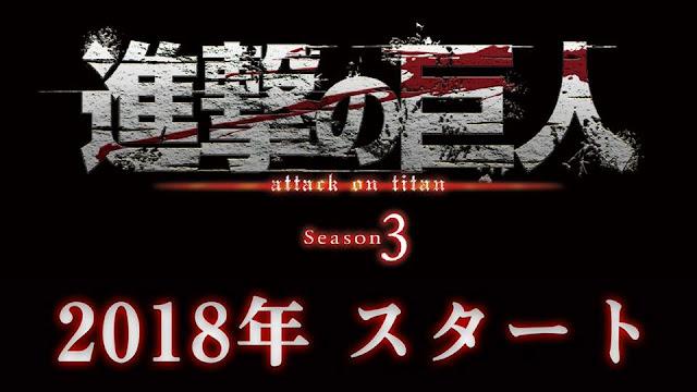 Terceira Temporada de Shingeki no Kyojin Anunciada!