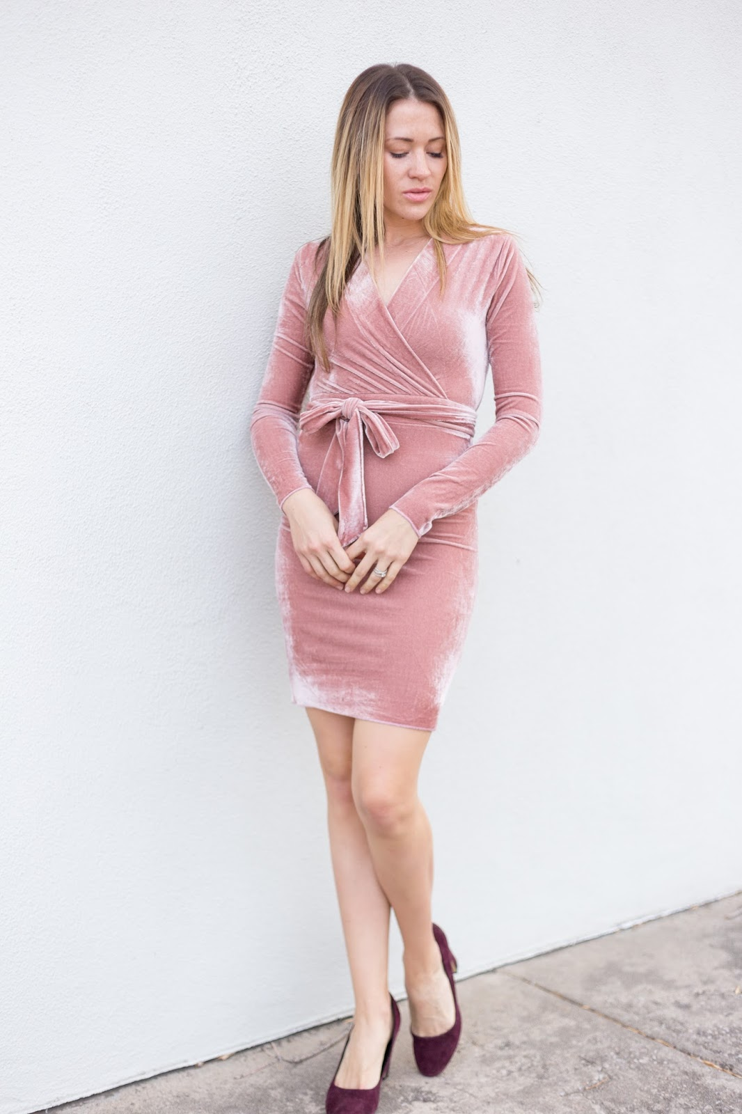 This Pink Velvet Dress is Perfect For Valentine's Day!