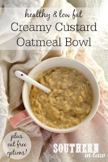 Healthy Creamy Custard Oatmeal Bowl Recipe - Porridge with Eggs