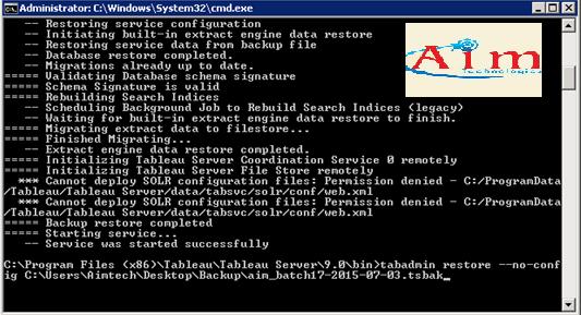 TABLEAU GURUS: Restoring the Tableau Server