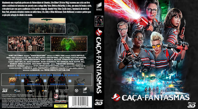 Capa Bluray Caça Fantasmas [Exclusiva]