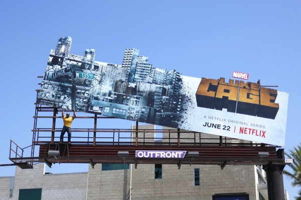 Luke Cage season 2 special installation billboard
