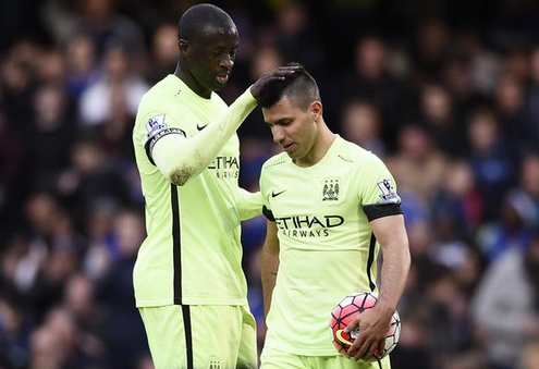 Yaya Toure, Aguero, Man City
