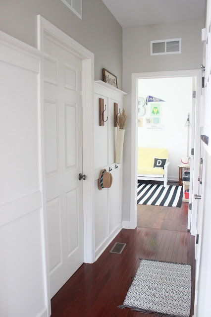 DIY board and batten hallway