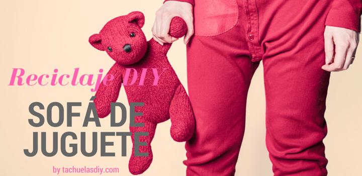 Crea un sofá para muñecos de juguete realizando manualidades con niños reciclando cartón y retales