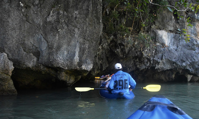 canoeing through caves