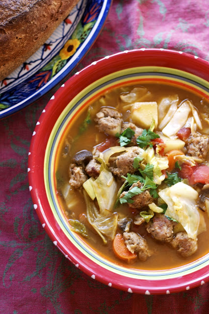 Shchi- Russian Cabbage Soup- simplelivingeating.com