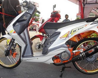 modifikasi beat fi hitam kuning modifikasi beat fi touring