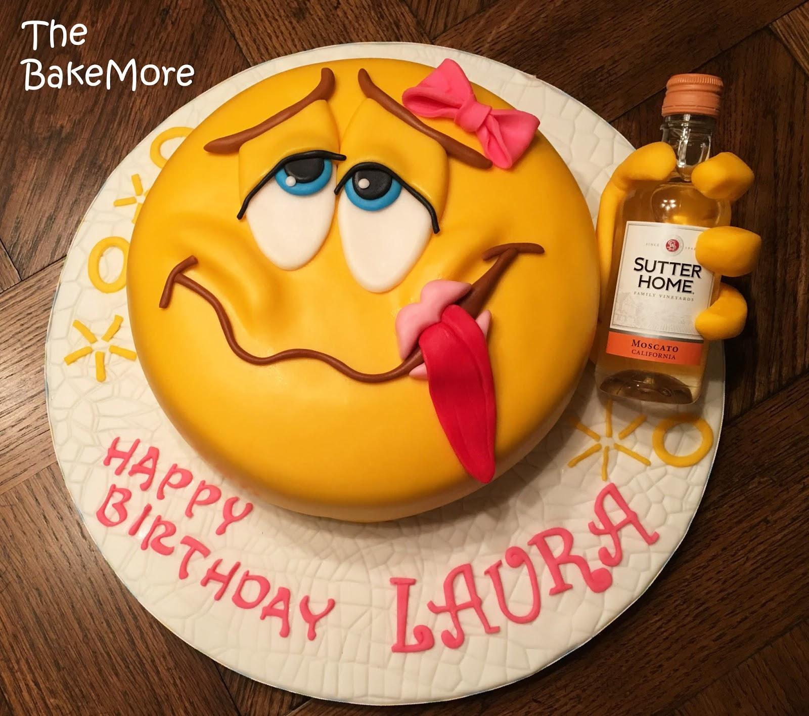 The Bake More Drunk Emoji Cake Big Lips Little Lips Or No Lips