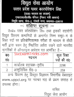 UPPCL Grade III Notification