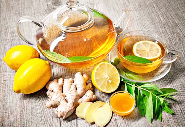 Ginger Juice to your Lemon and Mint Tea Cooler