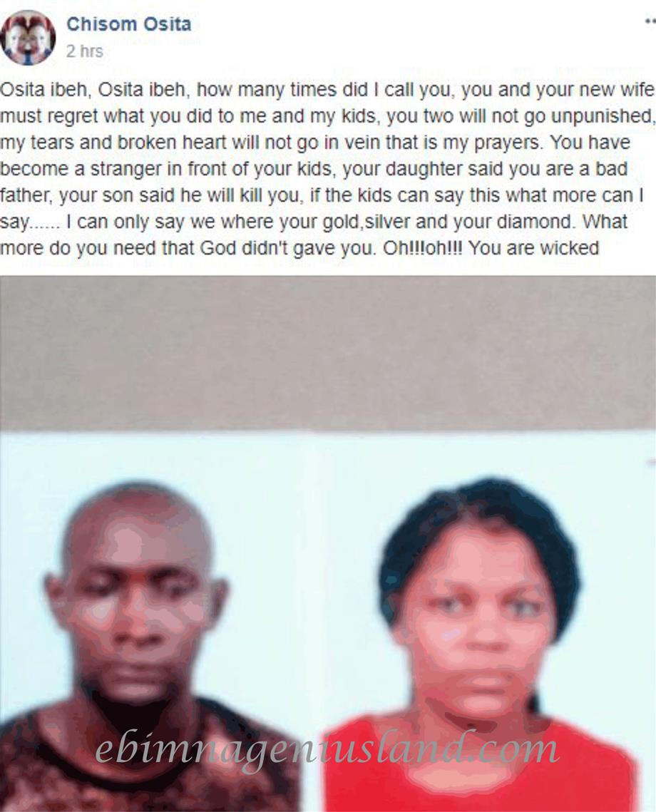 Chisom Osita Cries Publicly in Facebook Of How Her Husband Threw Her and The Children Away To Marry Another Woman