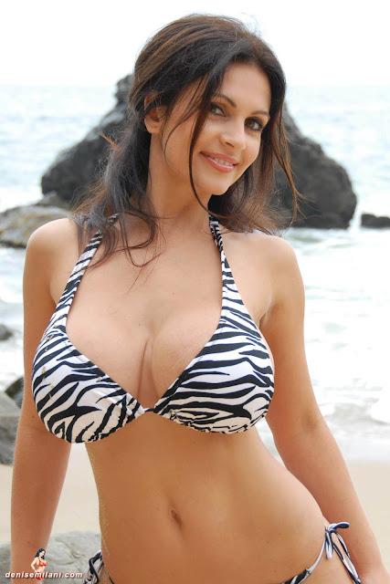 Denise Milani Beach Zebra HD Sexy Photoshoot Hot Photo 30