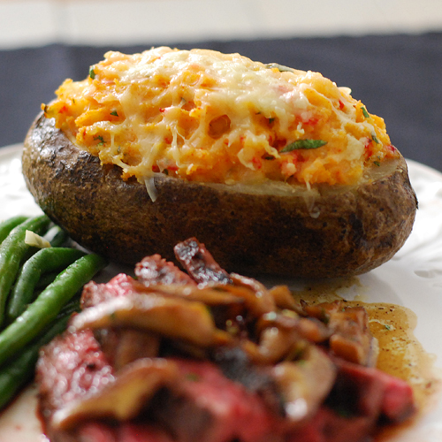 twice baked potato, twice baked potato grill, twice baked potato big green egg, twice baked potato grill dome