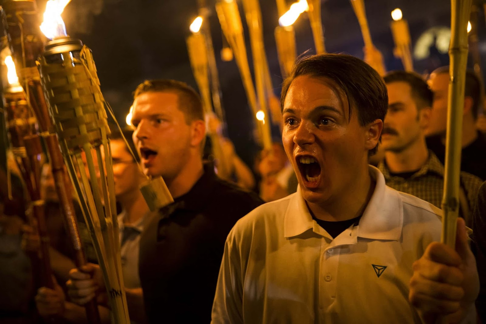 25 Of The Most Intriguing Pictures Of 2017 - White supremacists' torch march in Charlottesville