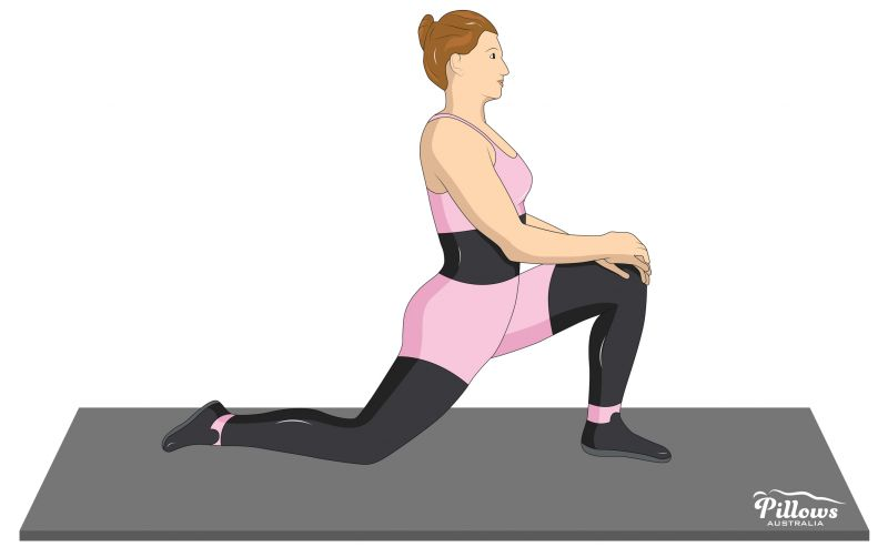 18 Easy Stretches In 18 Minutes To Help Reduce Back Pain - THE HIP FLEXORS STRETCH