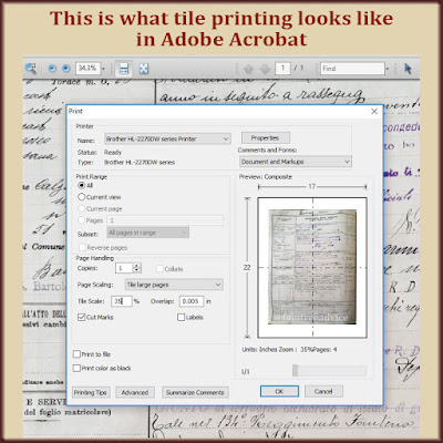 You can print across several sheets of paper from certain programs.