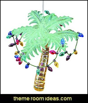Glass Palm Tree Ornament  Coastal Christmas decorating theme - coastal Christmas decor - beach christmas  - Beach Christmas Decorations  - seaside decor - coastal ornaments - beach themed Christmas decorations - beach themed christmas tree -  sea themed ornaments -  nautical accents - beach themed ornaments - coastal Christmas tree skirts - beach & seaside decorations