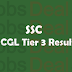 SSC CGL Tier 3 Result 2017 – SSC Tier-III Cut Off – Merit List