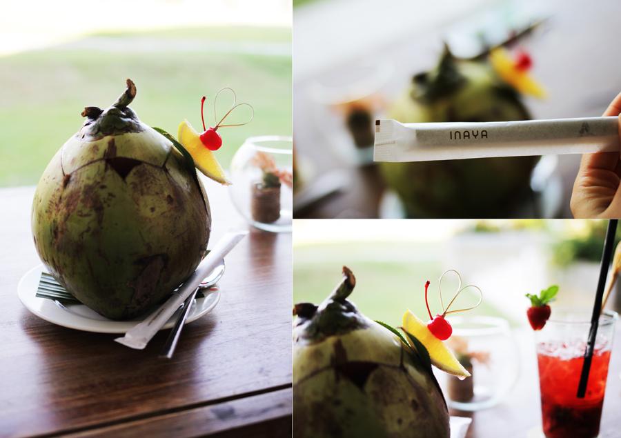 coconut water INAYA PUTRI BALI in nusa dua