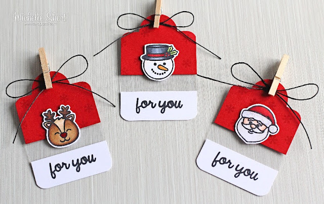Sunny Studio Stamps: Christmas Icons Holiday Gift Tags by Michelle Short.