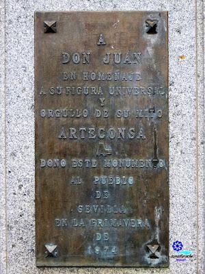 Sevilla - Plaza de los Refinadores - Placa del Monumento a Don Juan