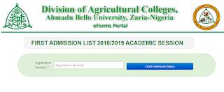ABU DAC Admission List 2018/2019 Released On School Portal