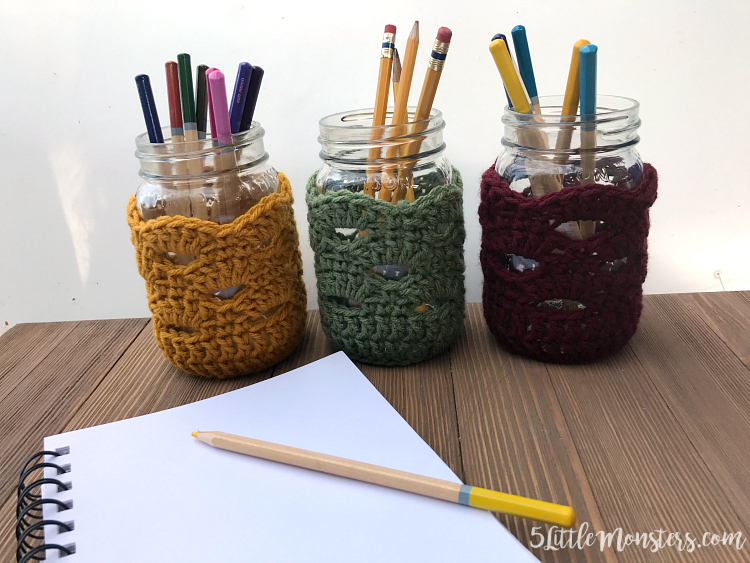 crocheted jar covers