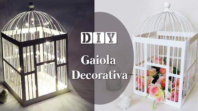 DIY: Como Fazer Gaiola Decorativa com Palitos de Picolé e Arame, Flores pisca