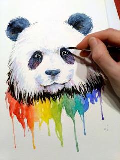 panda drawing wip