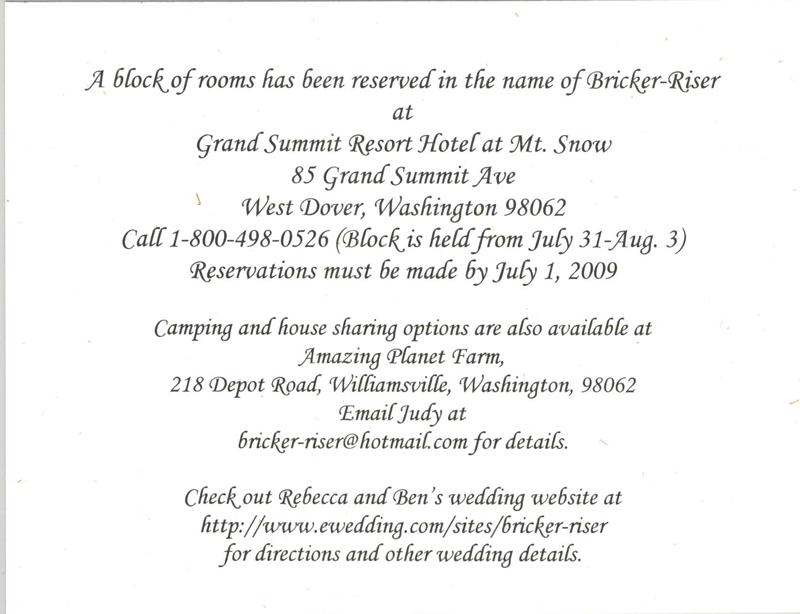 Stani Wedding Card Text
