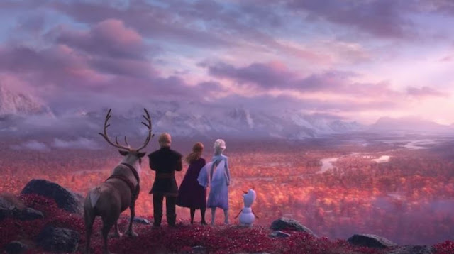Gambar Frozen 2 Anna Elsa Kristoff Olaf Wallpaper HD Journey to Ancient Arendelle