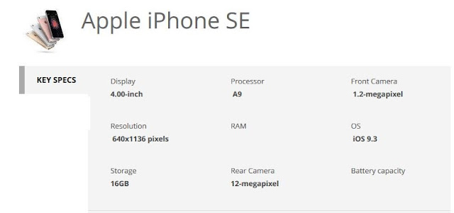 apple-iphone-se-specification