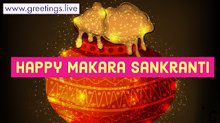 Happy Makara Sankranti Magic Sparkling HD image