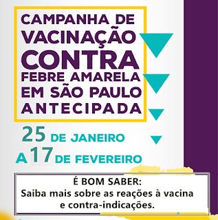 FEBRE AMARELA: Saiba mais sobre reações e contraindicações à vacina.