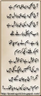 mosam shayari, urdu poetry, barish poetry