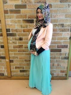 7 Model Baju Gamis Blazer Untuk Ibu Hamil Tua
