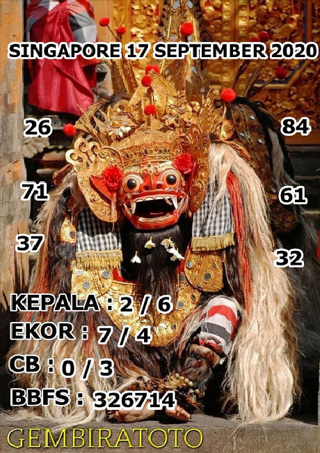 Kode syair Singapore Kamis 17 September 2020 148