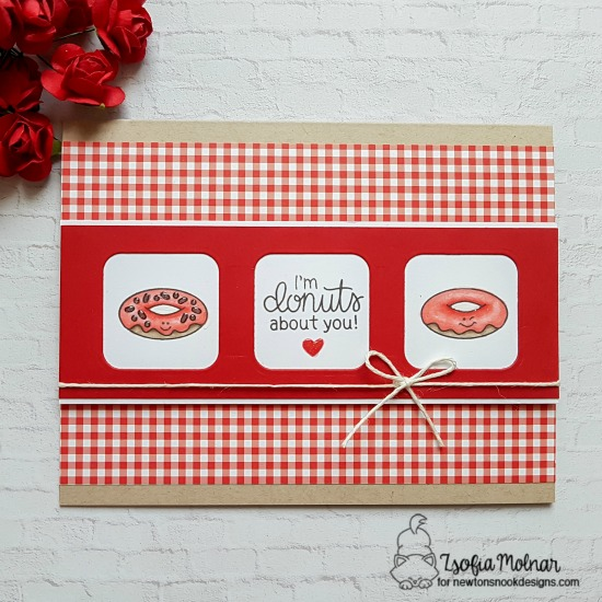 I'm donuts about you by Zsofia features Love Bites by Newton's Nook Designs; #newtonsnook
