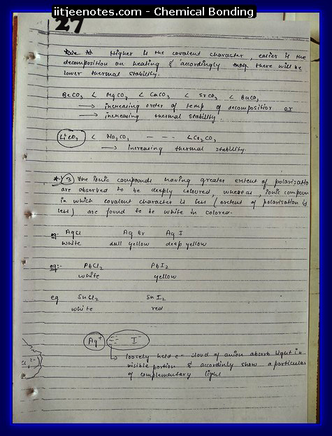 Chemical Bonding Notes IITJEE 3
