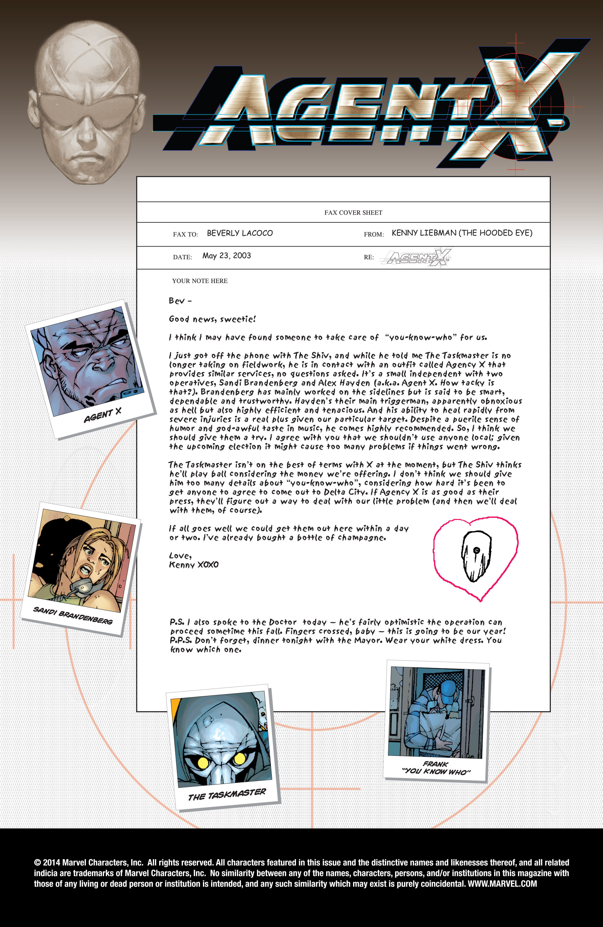 Read online Agent X comic -  Issue #10 - 2