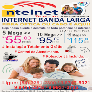 INTELNET (84) 3281 2300 - NOVA CRUZ/RN