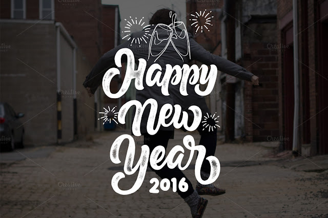 Happy new Year- Lettering Over lays