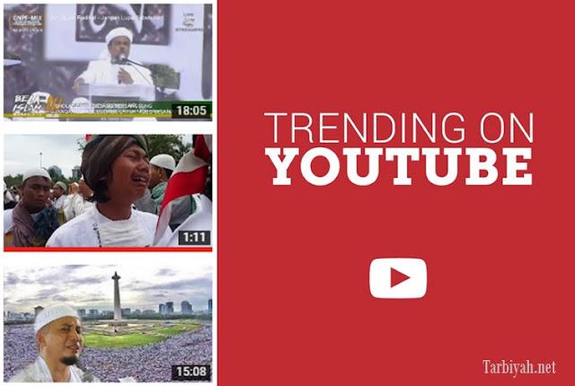 Video Aksi 212 dominasi trending Youtube