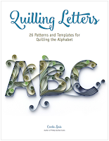 Quilling Letters Pattern Template Tutorial Book