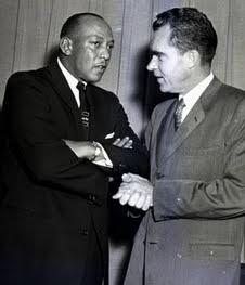 Jesse Owens, 1958  & Vice President Richard Nixon