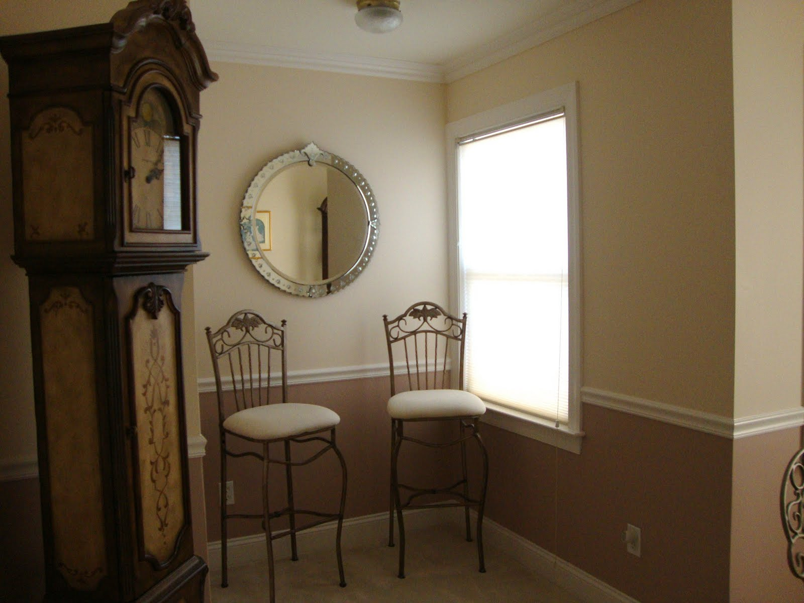 Two Tone Walls With Chair Rail Nazarian Painting And Home Remodling Metuchen Town House