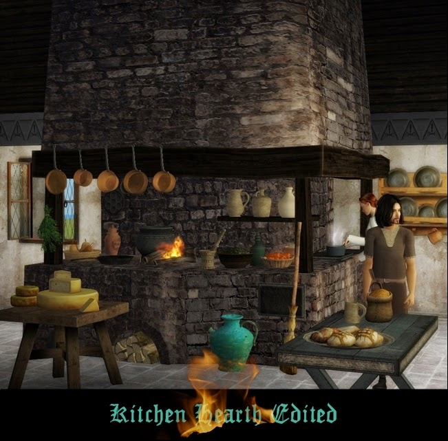 Kitchen Hearth: The Medieval Smithy SIMS 2: Kitchen Hearth Edited