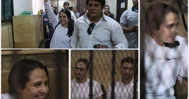 البراءة لاية حجازي وزوجها بعد 3 اعوام في السجن