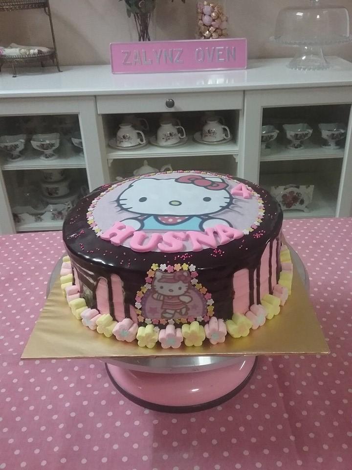 Zalinzalina Blogspot Com Kek Birthday Tema Hello Kitty